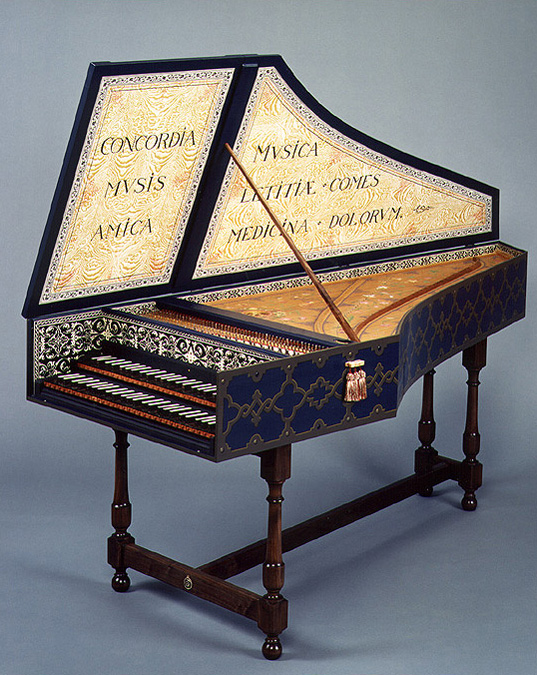 Harpsichord with Flemish Strapwork