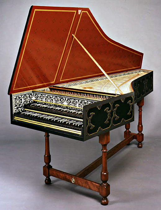 Colmar Ruckers Harpsichord with Strapwork