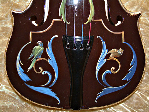 Violin with Grotesques